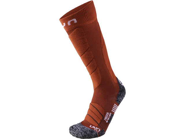 UYN Ski Magma Calcetines Mujer, dark red/red